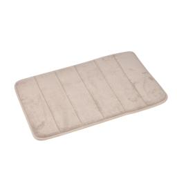 Tapis memoire de forme 40 x 60 cm microfibre unie vitamine Taupe