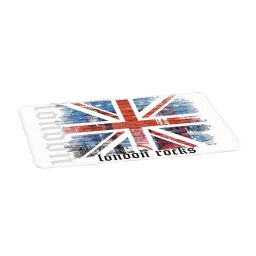 tapis microfibre douceur d'interieur theme london rocks 45x75cm
