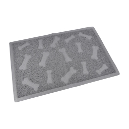 tapis pvc rectangle pour chien l40*60cm gris impressions os