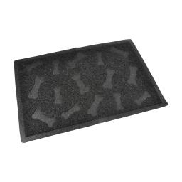 tapis pvc rectangle pour chien l40*60cm noir impressions os