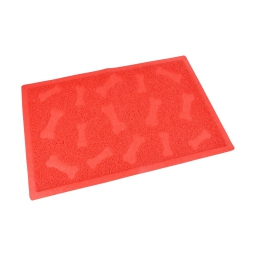 tapis pvc rectangle pour chien l40*60cm rouge impressions os