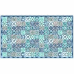 Tapis rectangle 100 x 170 cm vinyle alicante Bleu
