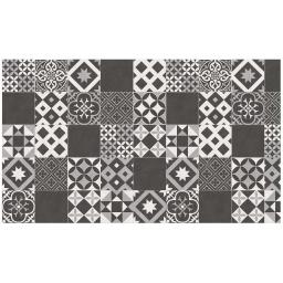 Tapis rectangle 100 x 170 cm vinyle marbella Noir