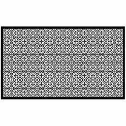 Tapis rectangle 100 x 170 cm vinyle vittoria Noir