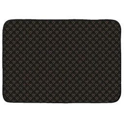 Tapis rectangle 120 x 170 cm velours imprime or graphigold Noir