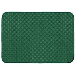Tapis rectangle 120 x 170 cm velours imprime or graphigold Vert