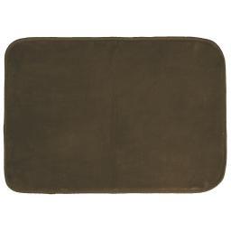 Tapis rectangle 120 x 170 cm velours uni louna Choco
