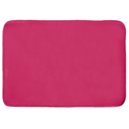 Tapis rectangle 120 x 170 cm velours uni louna Framboise