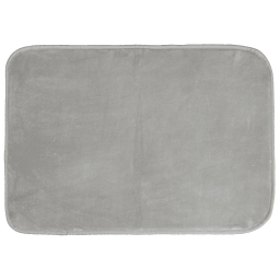 Tapis rectangle 120 x 170 cm velours uni louna Gris