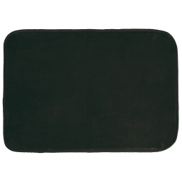 Tapis rectangle 120 x 170 cm velours uni louna Noir