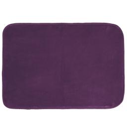 Tapis rectangle 120 x 170 cm velours uni louna Prune