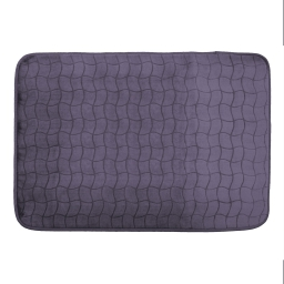 Tapis rectangle 120 x 170 cm velours uni tomette Anthracite