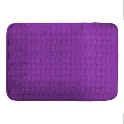 Tapis rectangle 120 x 170 cm velours uni tomette Prune