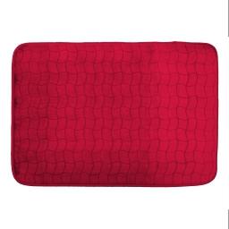 Tapis rectangle 120 x 170 cm velours uni tomette Rouge
