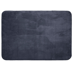 Tapis rectangle 120 x 170 cm velours uni zigga Anthracite