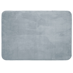 Tapis rectangle 120 x 170 cm velours uni zigga Gris