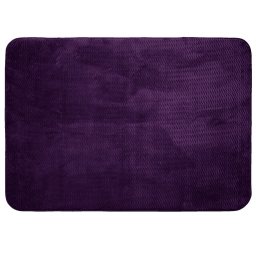 Tapis rectangle 120 x 170 cm velours uni zigga Violine