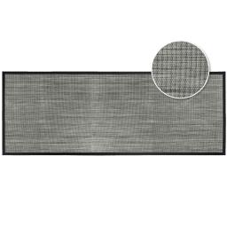 Tapis rectangle 45 x 120 cm pvc tisse tonio Noir