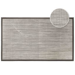 Tapis rectangle 45 x 75 cm pvc tisse tonio Naturel