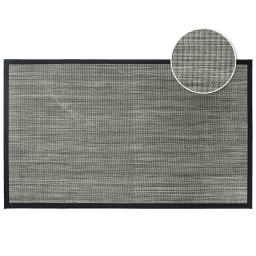 Tapis rectangle 45 x 75 cm pvc tisse tonio Noir