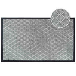 Tapis rectangle 45 x 75 cm pvc tisse triano Noir