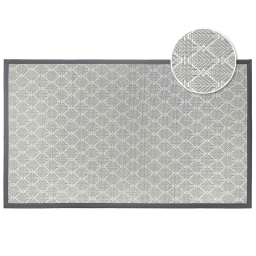 Tapis rectangle 45 x 75 cm pvc tisse triano Taupe