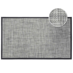 Tapis rectangle 45 x 75 cm pvc tisse verso Gris