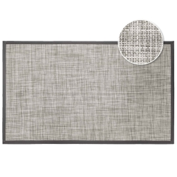 Tapis rectangle 45 x 75 cm pvc tisse verso Taupe