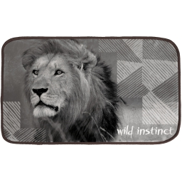 tapis rectangle 45 x 75 cm velours imprime lion