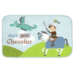 tapis rectangle 45 x 75 cm velours imprime petit chevalier