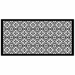 Tapis rectangle 50 x 100 cm vinyle vittoria Noir