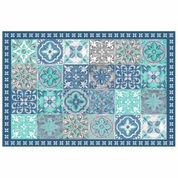 Tapis rectangle 50 x 75 cm vinyle alicante Bleu