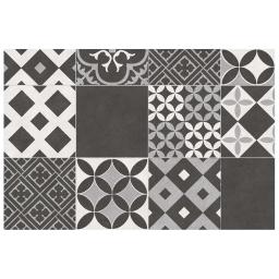 Tapis rectangle 50 x 75 vinyle marbella Noir