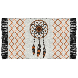 tapis rectangle 50 x 80 cm coton imprime tribal attrape reves