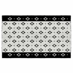 tapis rectangle 50 x 80 cm coton jacquard sweet tribal