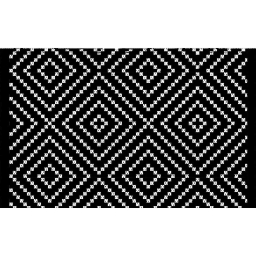 tapis rectangle 50 x 80 cm coton jacquard talisca