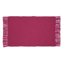Tapis rectangle 50 x 80 cm coton uni unix Fuchsia
