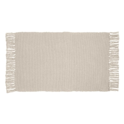 Tapis rectangle 50 x 80 cm coton uni unix Naturel