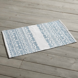 Tapis rectangle 50 x 80 cm imprime lacanau Ciel