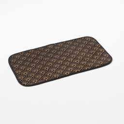 Tapis rectangle 50 x 80 cm velours imprime or graphigold Noir