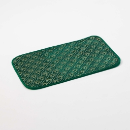 Tapis rectangle 50 x 80 cm velours imprime or graphigold Vert