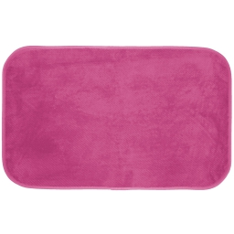 Tapis rectangle 50 x 80 cm velours uni kalina Fuchsia