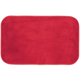 Tapis rectangle 50 x 80 cm velours uni kalina Rouge