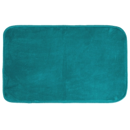 Tapis rectangle 50 x 80 cm velours uni louna Bleu lagon