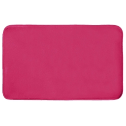 Tapis rectangle 50 x 80 cm velours uni louna Framboise