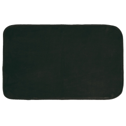 Tapis rectangle 50 x 80 cm velours uni louna Noir