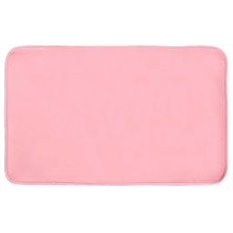 Tapis rectangle 50 x 80 cm velours uni louna Rose pale