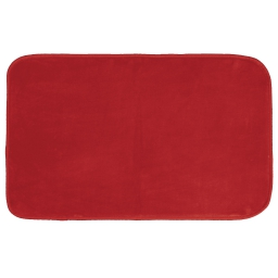 Tapis rectangle 50 x 80 cm velours uni louna Rouge