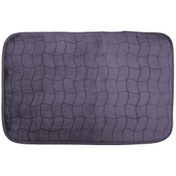 Tapis rectangle 50 x 80 cm velours uni tomette Anthracite