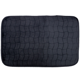 Tapis rectangle 50 x 80 cm velours uni tomette Noir
